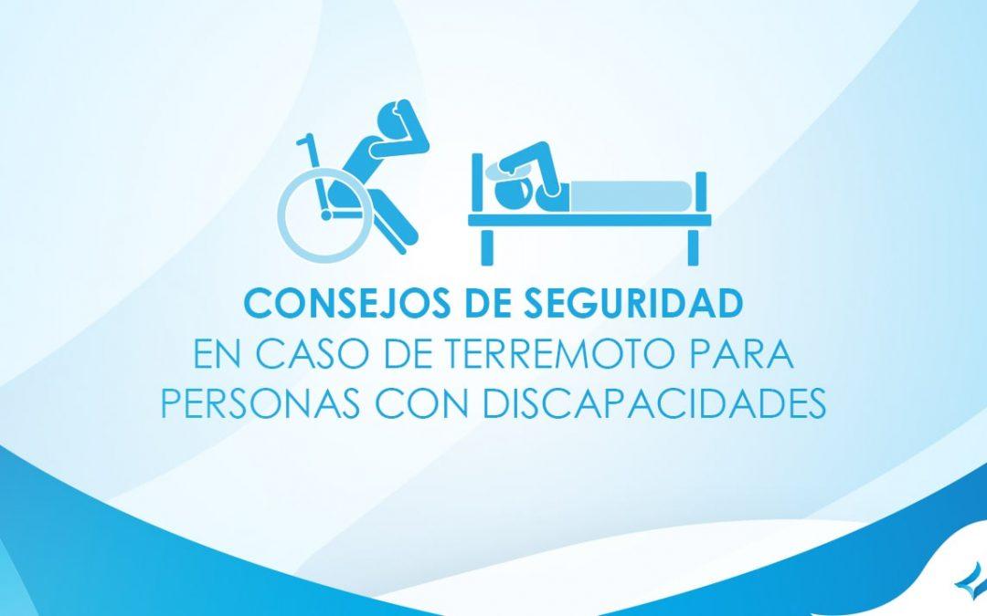 Consejos de seguridad en caso de terremoto para personas con discapacidades